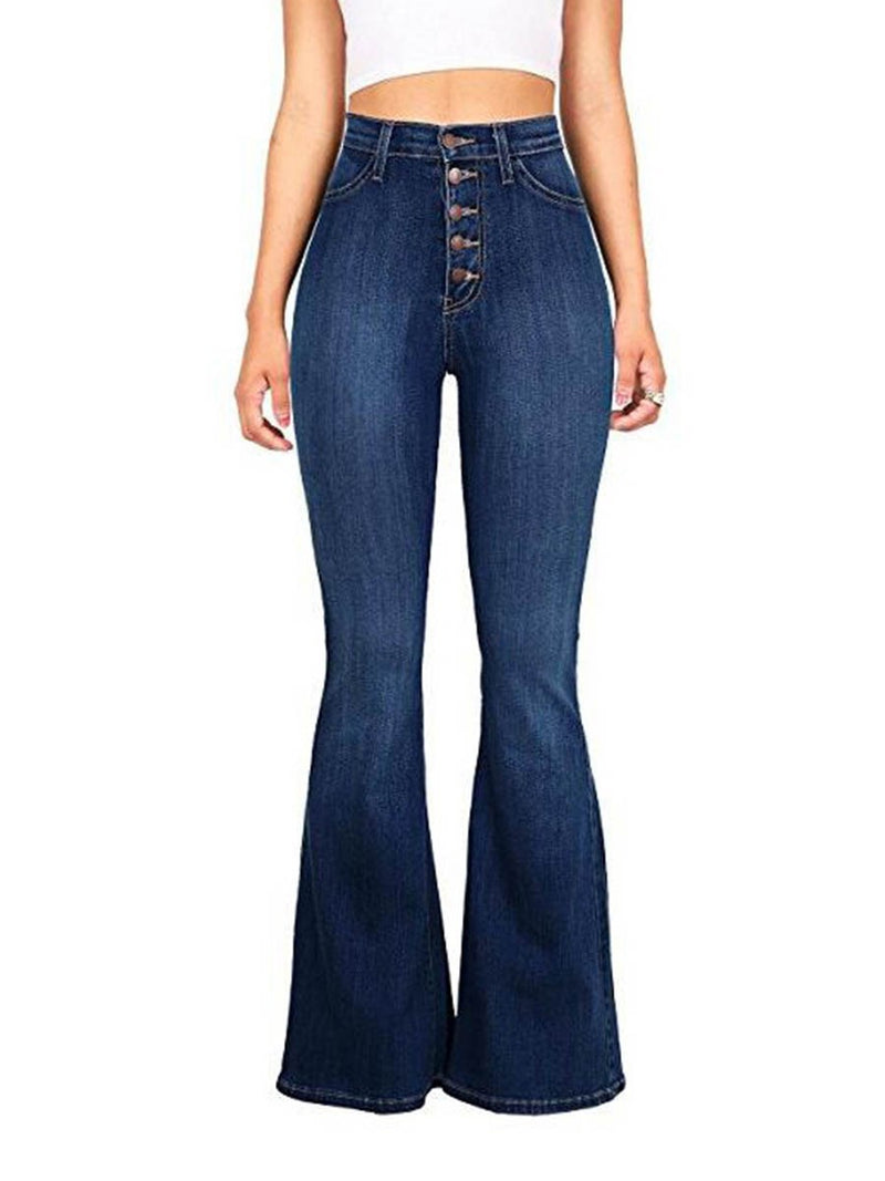 Denim Button High Waist Women's Jeans
