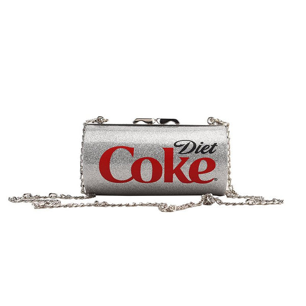 Novelty Drinks Design Chain Cross Body Bag