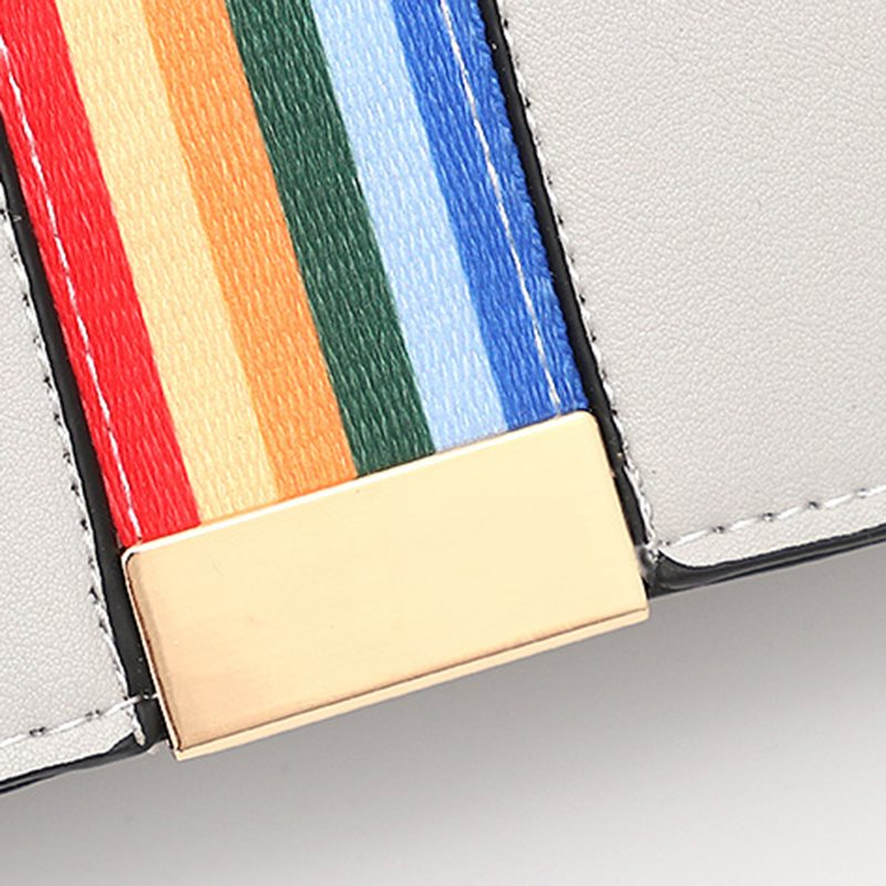 Rainbow Belt Color Block Crossbody Bag