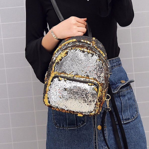 Dazzling Shining Sequins Women Backpack