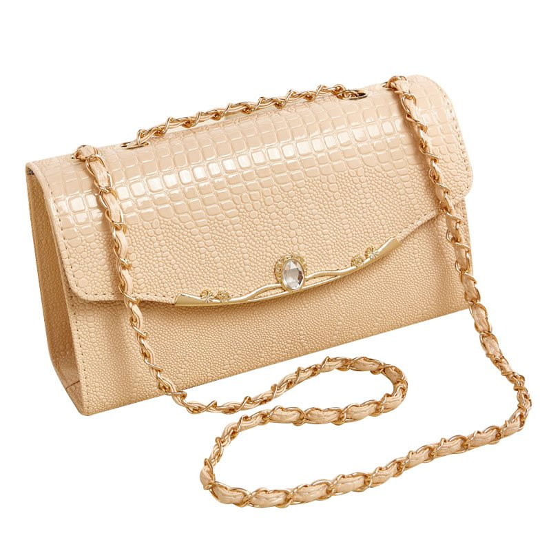 Korean Style Crocodile Grain Cross Body Bag