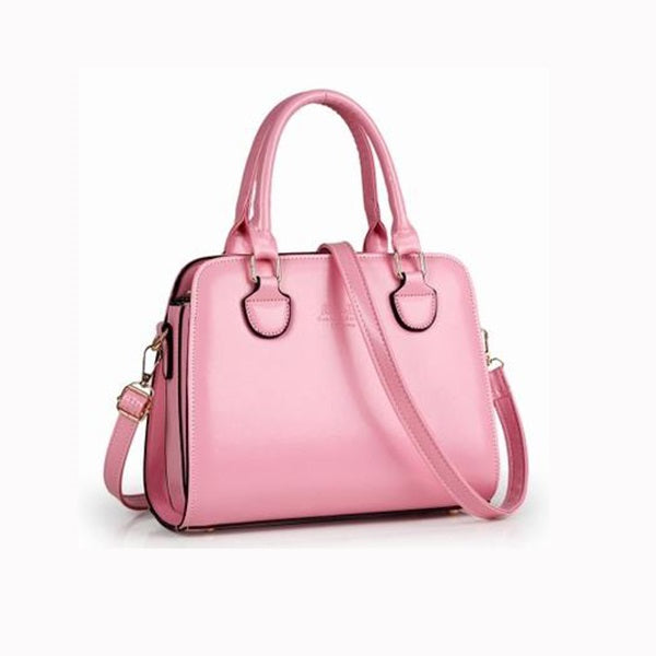 Charming Pure Color Women's Tote Bag With Adjustable Belt