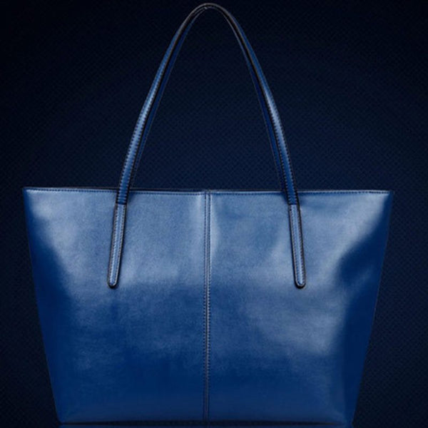 Contracted Solid Color PU Shoulder Bag