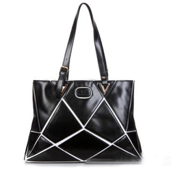 Personality Geometric Stitching Shoulder Bag