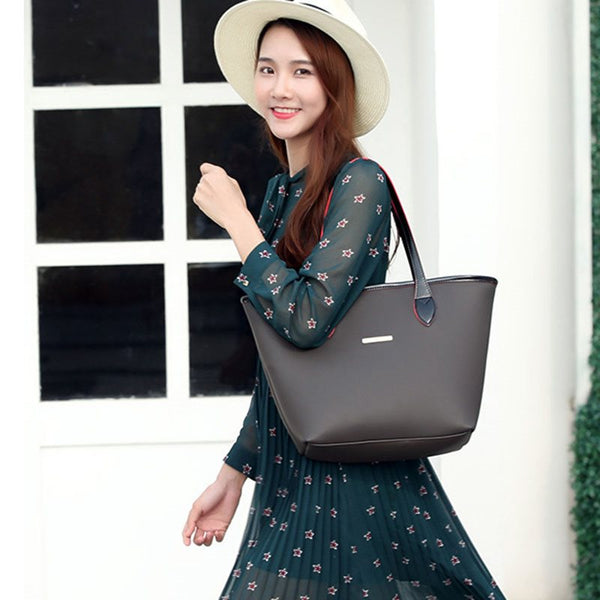 European Style Bucket Shape PU Shoulder Bag