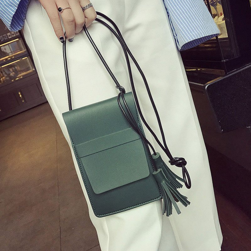 Korean Style Tassel Mini Phone Cross Body