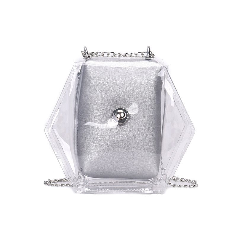 Dazzling transparent PVC Chain Clear Jelly Bag
