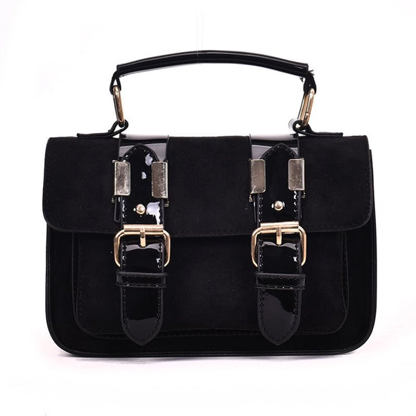 Fashion Belt Decorated Hasp Women Crossbody Bag