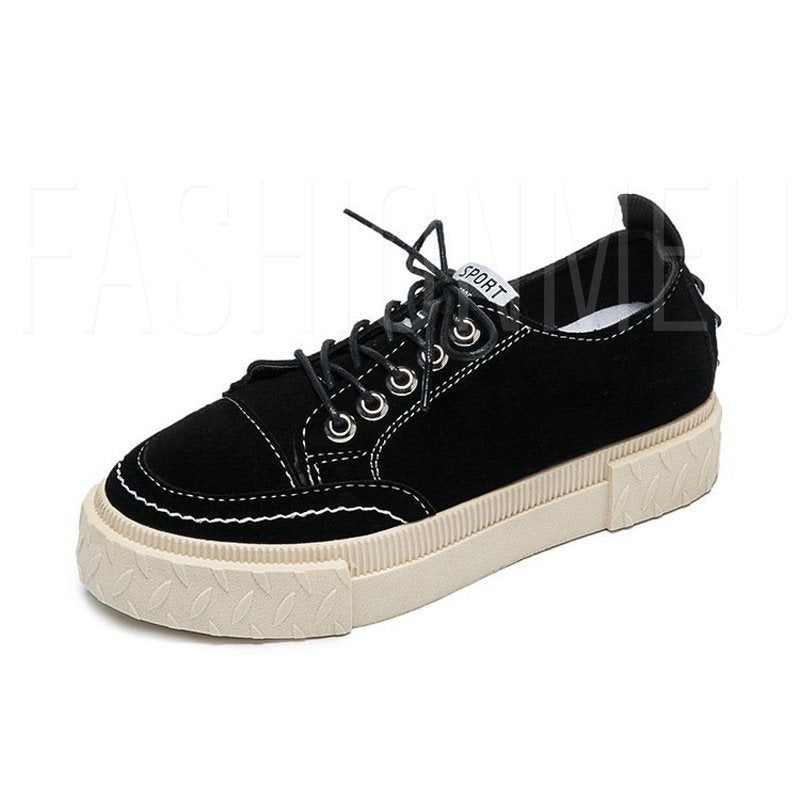 Rivet Lace Up Casual Women's Sneakers