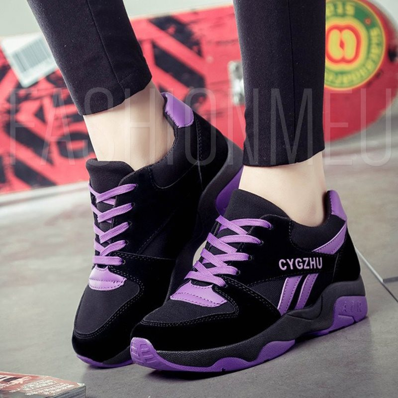 Color Block Women's Platform Sneakers