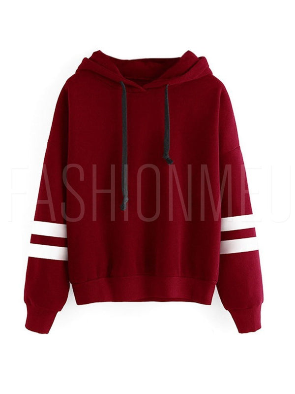 Long Sleeve Simple Style Hoodie