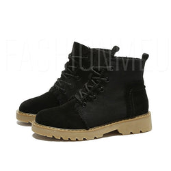 Round Toe Lace-Up Front Women's Martin Boots