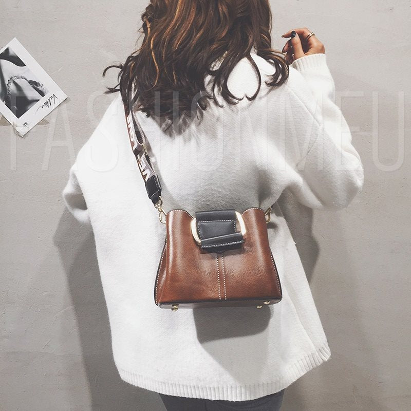 Thread PU Hobos Soft Crossbody Bags