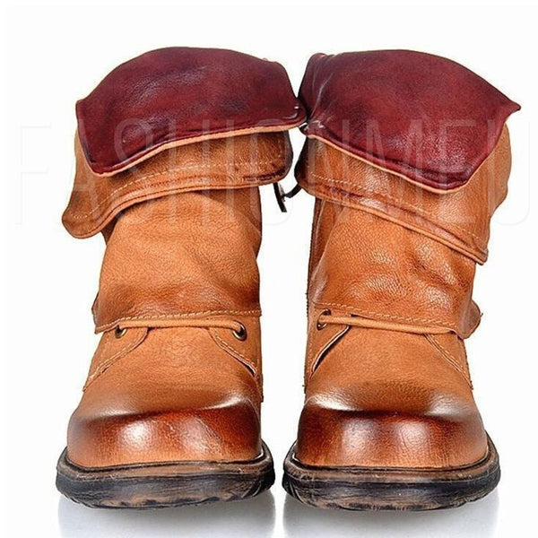 Hot Women Buckle Combat Riding Ankle Boots