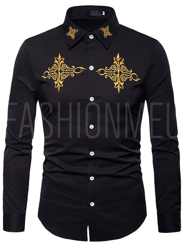 Front Embroidery Men's Shirt