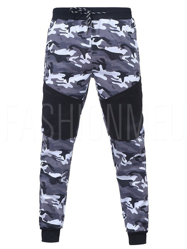 Slim Mid-Waist Camouflage Men's Casual Pants