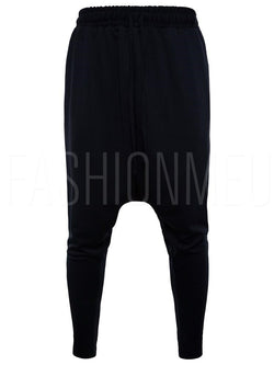 Lace-up Cotton Solid Color Men's Harem Pants