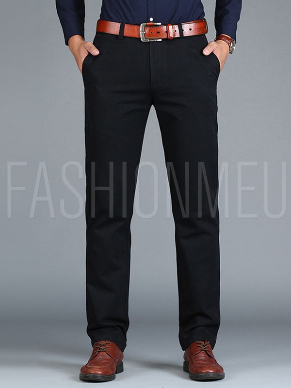 Mid-Waist Straight Vogue Loose Men's Casual Pants