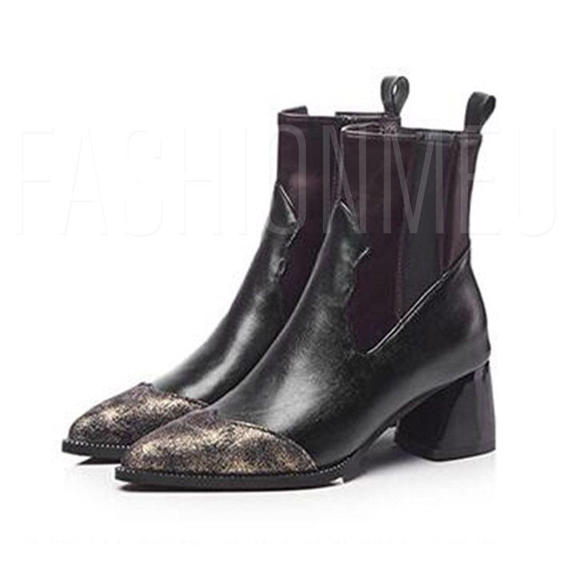 Patent Leather Women's Short Socks Flat Boots