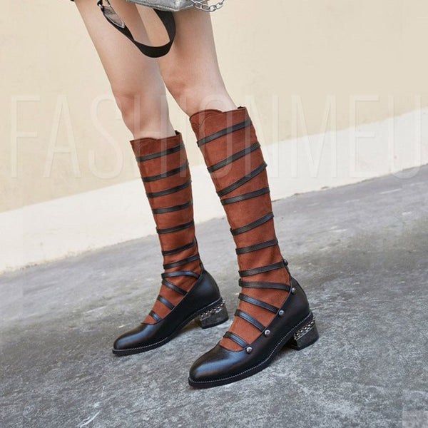 Plus Size Pointed Toe Women's Knee High Boots