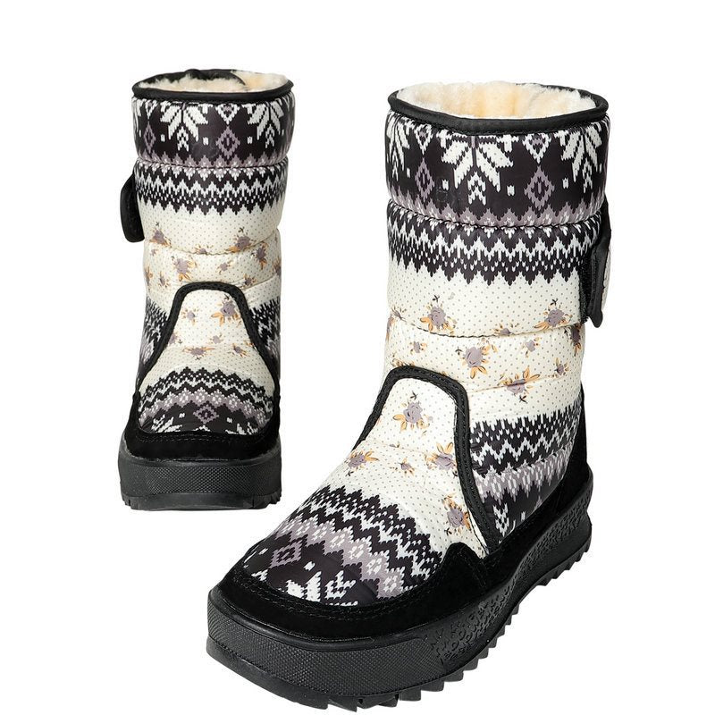 Winter Rubber Round Toe Snow Boots