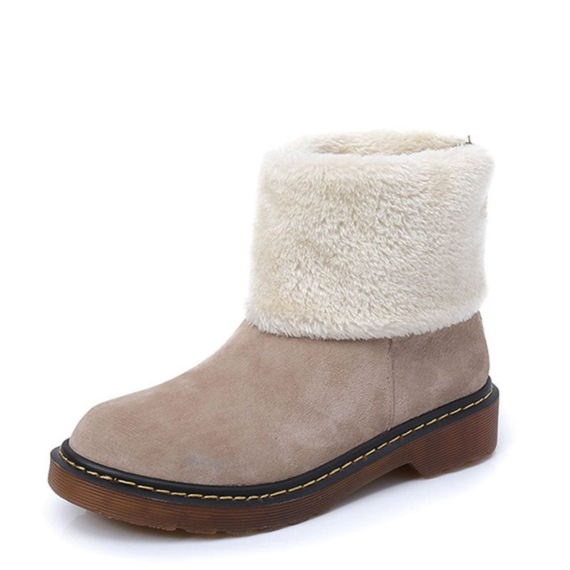 Women's Warm Round Toe Boots
