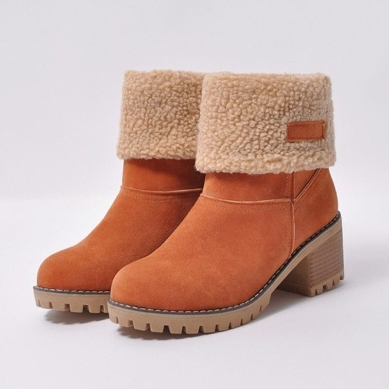 Rough Heeled Snow Women's Boots