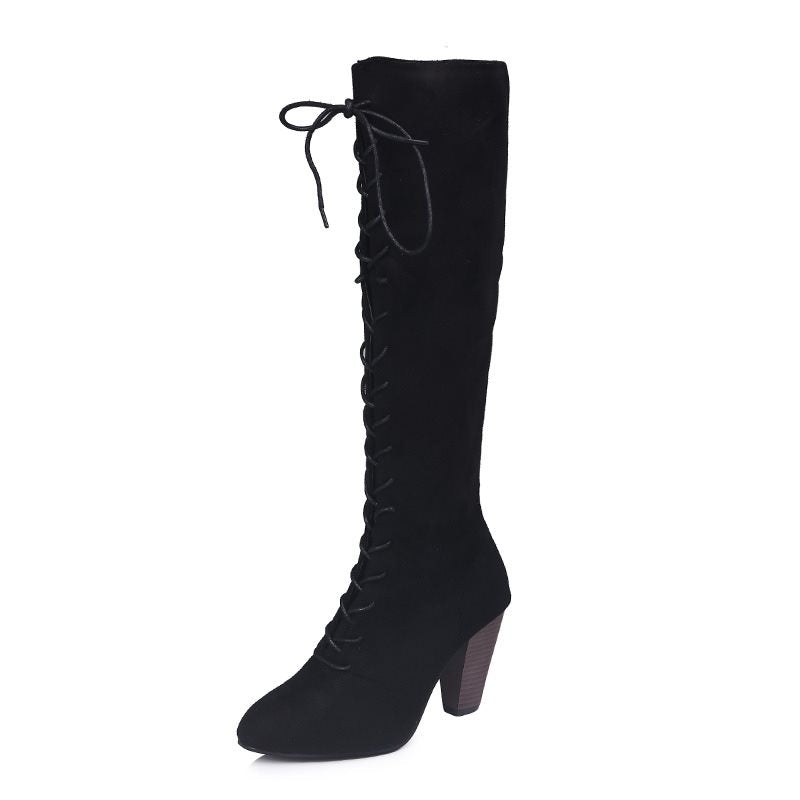 Oversize Round Toe Women's Boots
