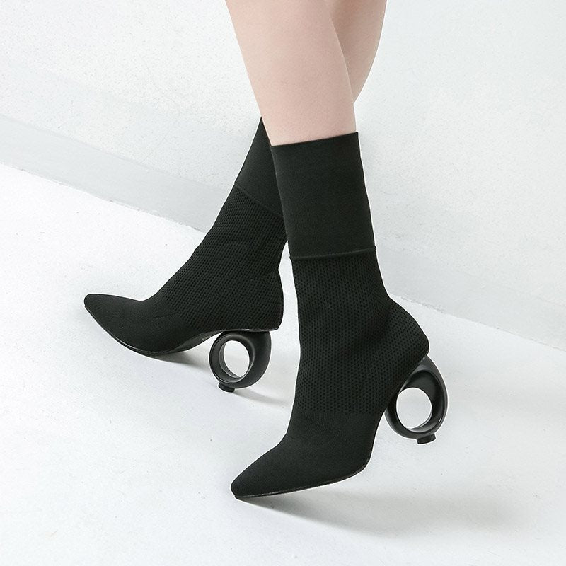 Pointed Toe Women's Sock Boots