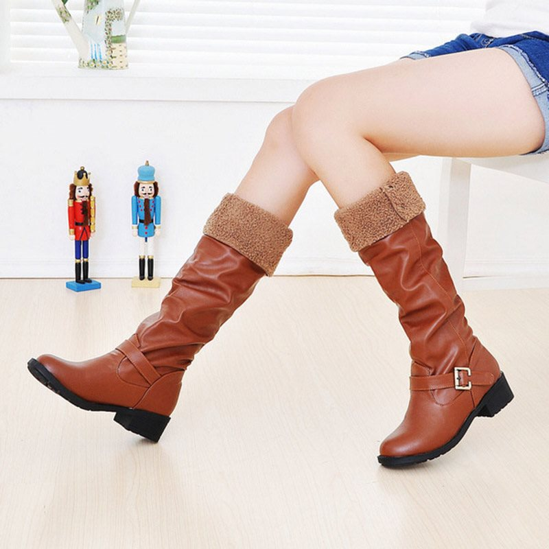 Casual Flat Women's Knee High Boots