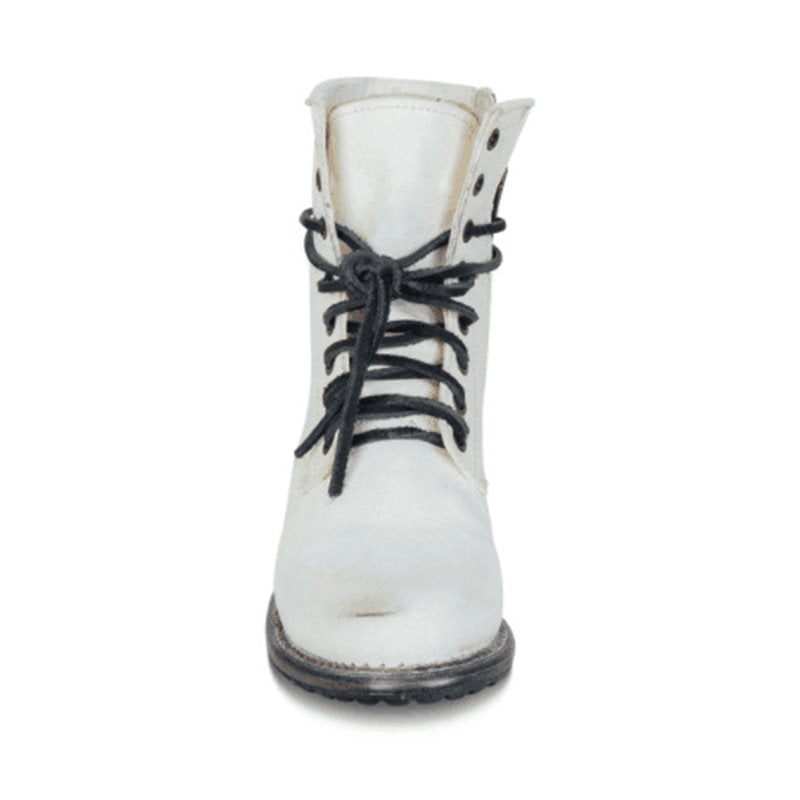 Women's Low Heel Side Zipper Martin Boots