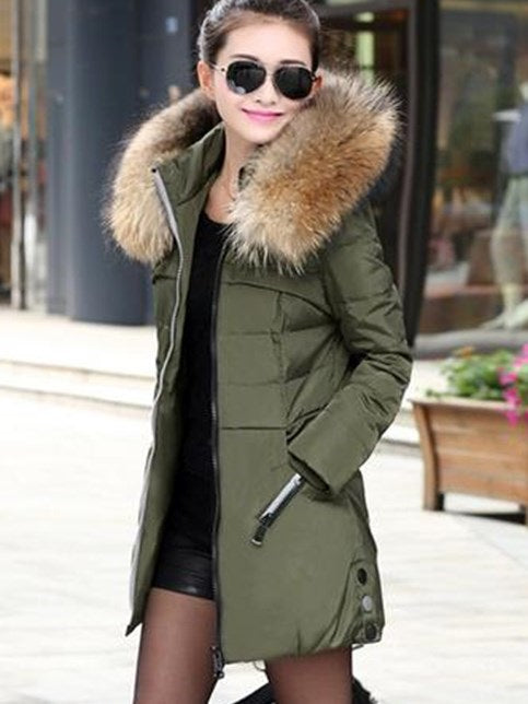 Hooded New Long Sleeve Thick Overcoat
