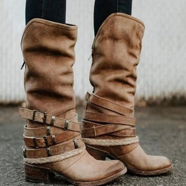 Casual Chunky Heel Rubber Women's Boots