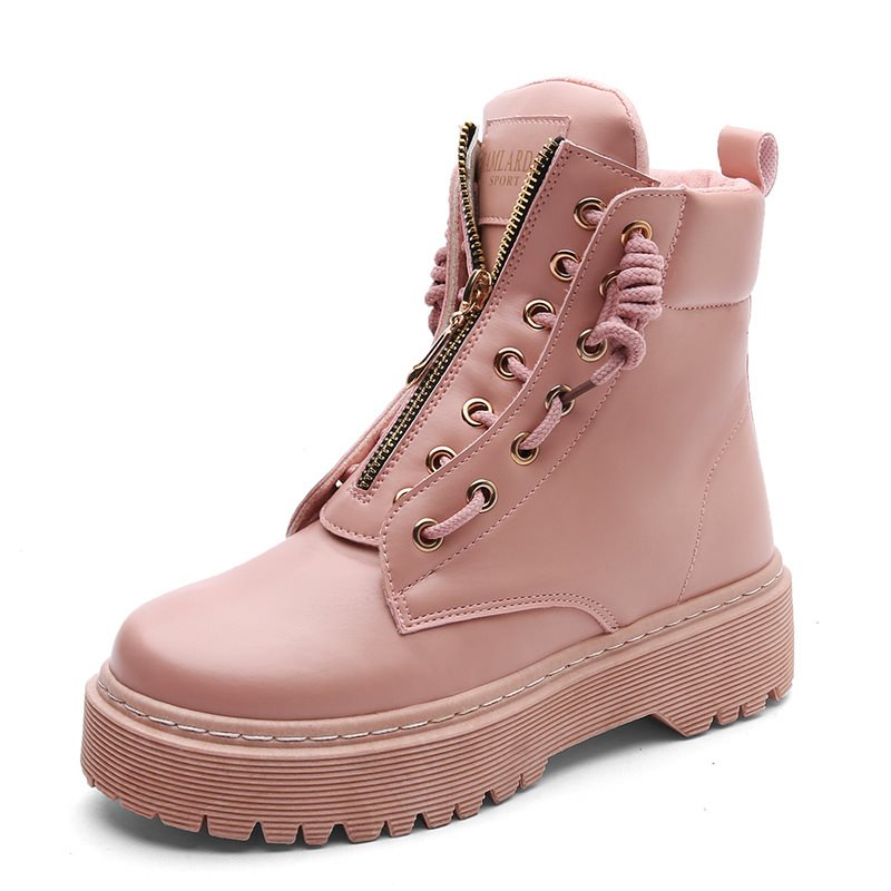 Casual Front Zipper Women's Boots