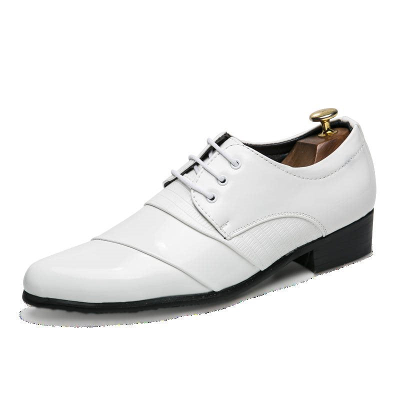 PU Lace-Up Low-Cut Upper Men's Shoes