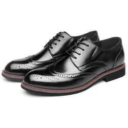 Leather Carved British Men's Shoes
