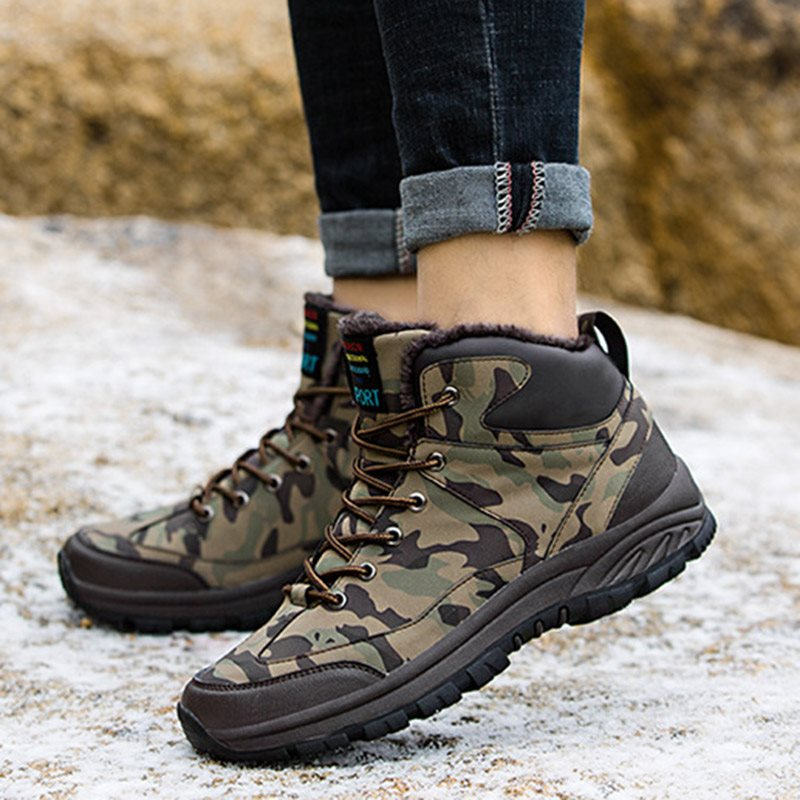 Winter Casual Rubber Camouflage Men's Boots