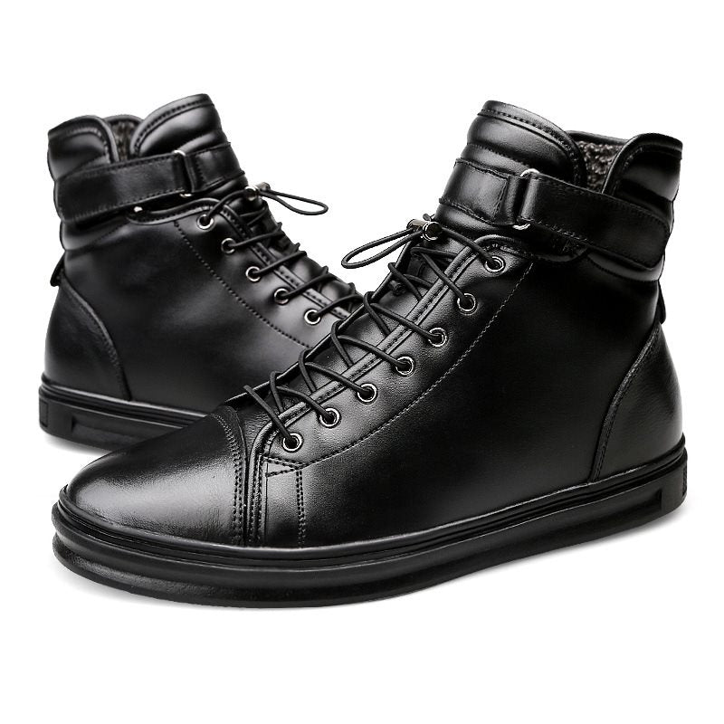 Round Toe Velcro Men's Ankle Boots