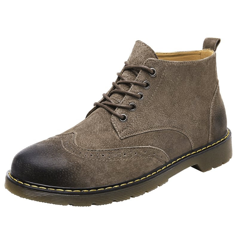 PU Cowhells Men's Ankle Boots