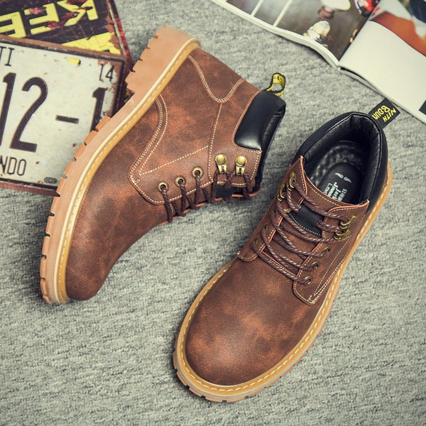Ankle Thread Rubber Men's Boots
