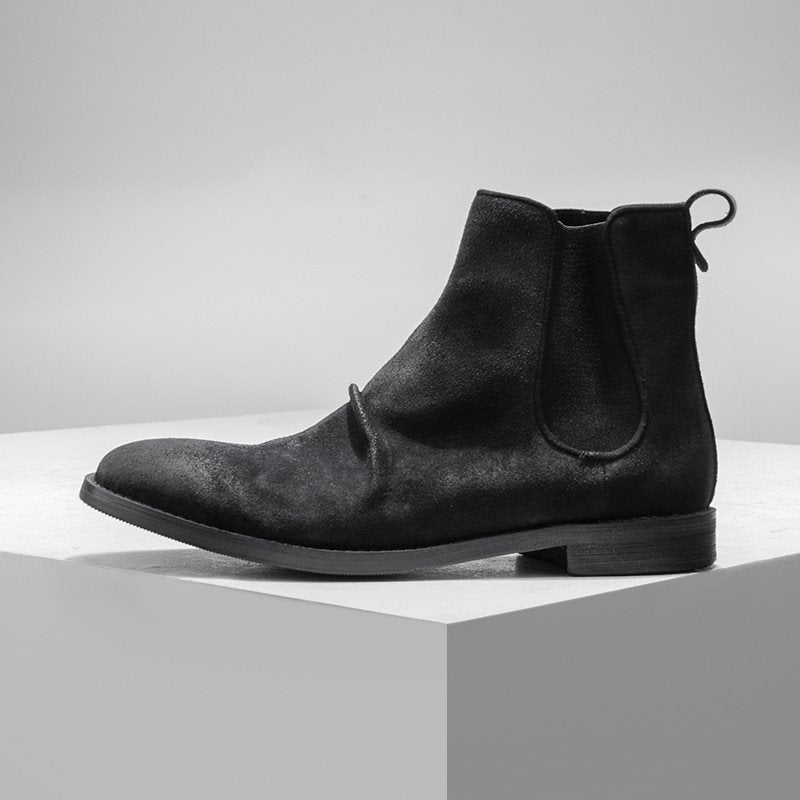Fall Round Toe Rubber Men's Ankle Boots