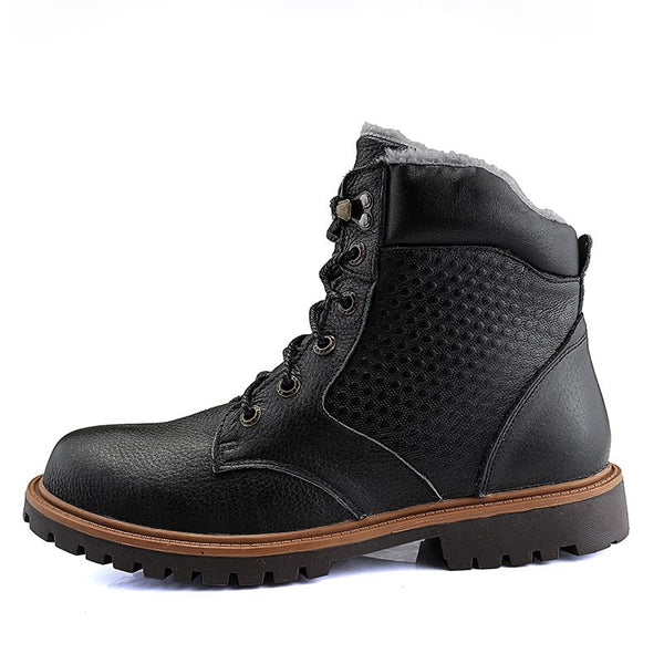 Lace-Up Front Plain Casual Martin Boots