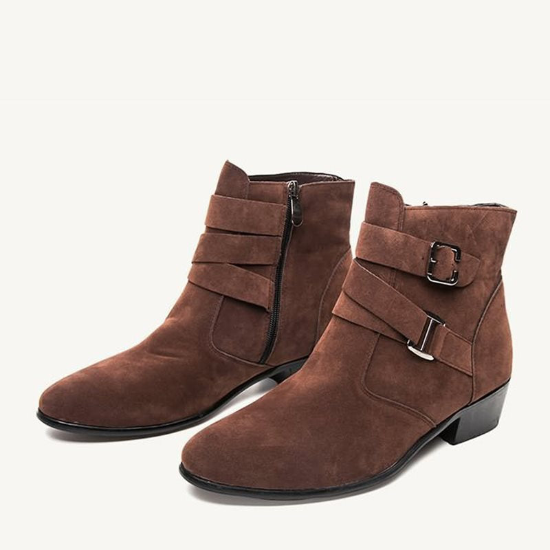 Winter Plain Casual Side Zipper Men's Boots