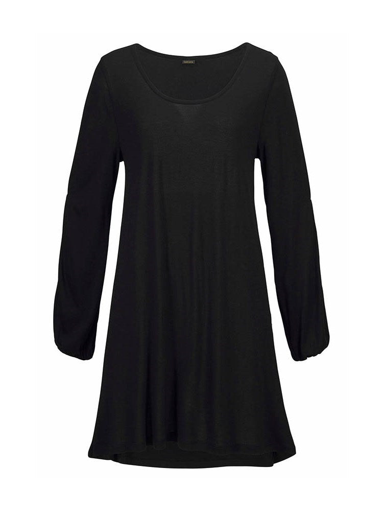Above Knee Long Sleeve Hollow Lantern Sleeve Pullover Dress