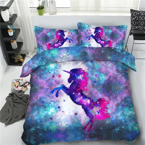Cotton Four-Piece Set Reactive Printing Duvet Cover Set Hand Wash