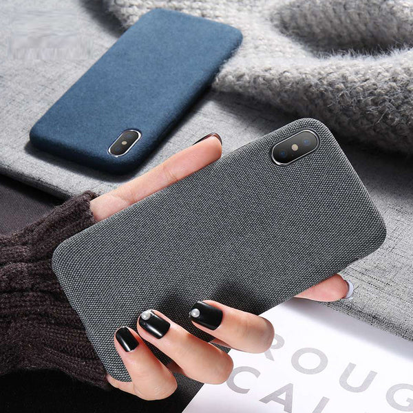 Luxury Cloth Texture Soft TPU Silicone Cover For iPhone