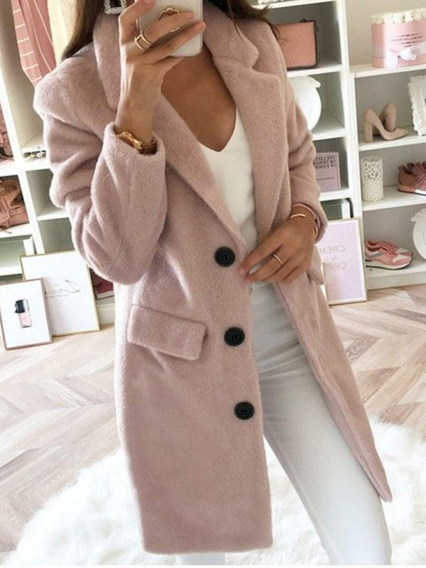 Slim Double-Breasted Long Winter Overcoat