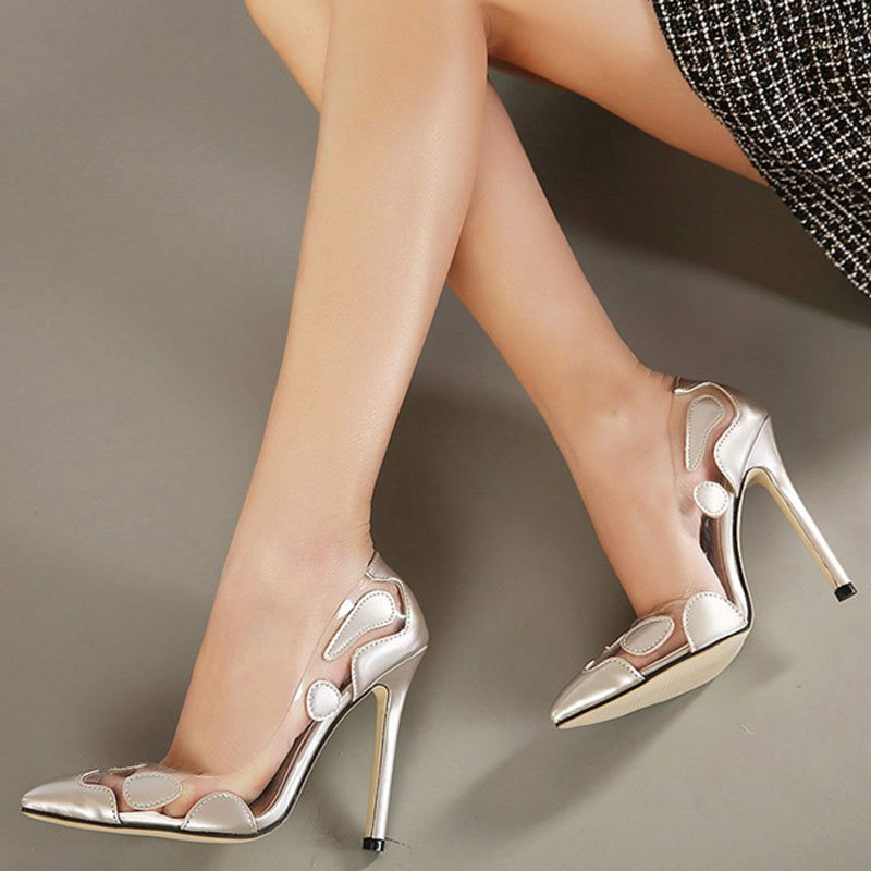 Pointed Toe Slip-On Stiletto Heel Low-Cut Upper Casual Thin Shoes