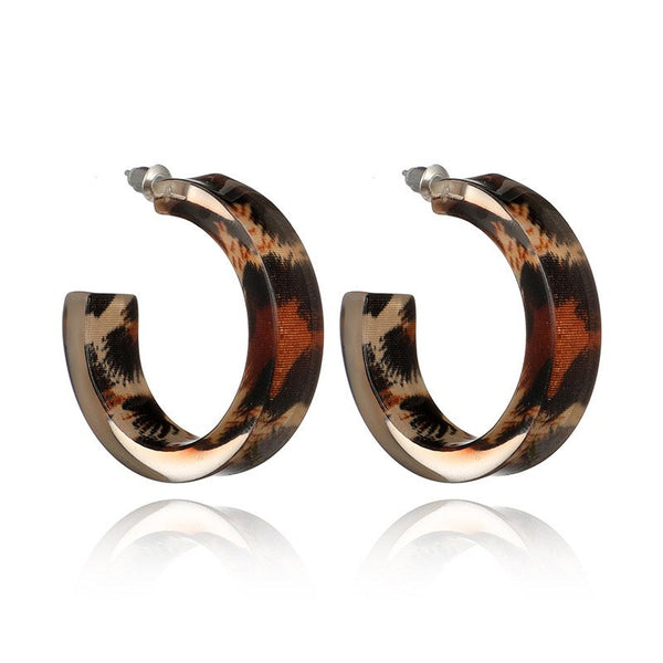 Acrylic Vintage Leopard Anniversary Earrings