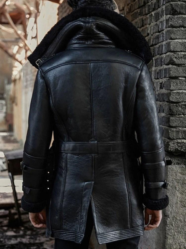Zipper Lapel Thick Winter Straight Jacket
